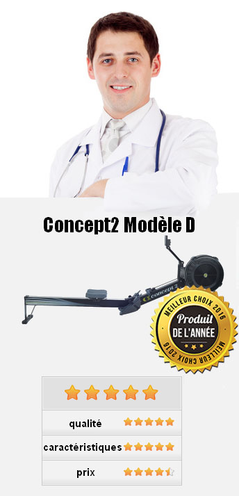 Concept2 Modèle D Rameur avec écran PM5